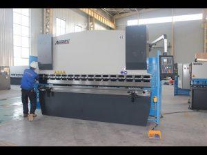 125T fletë metalike makinë bending 6mm, frenave hidraulike shtypi WC67Y-125T 3200 për Kinën