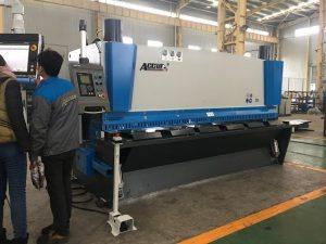 Makinë gijotine hidraulike MS8-8x3200 me sistemin e mbështetjes së fletëve