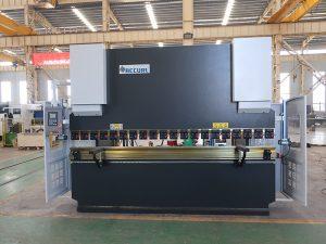 pjatë makinë Bending Wc67y 100t 3200 CNC çelik inox hidraulike shtyp frenave